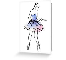 ballerina figure, watercolor illustration Greeting Card