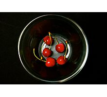 Bowl of Cherries Photographic Print
