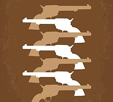 No197 My The Magnificent Seven minimal movie poster  by JiLong
