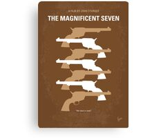 No197 My The Magnificent Seven minimal movie poster  Canvas Print