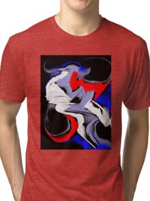 abstract face Tri-blend T-Shirt