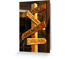 What's for lunch? Greeting Card