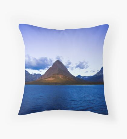 Swiftcurrent Lake Sunrise Throw Pillow