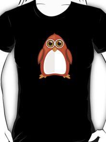Brown Orange Penguin 2  T-Shirt