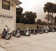 Bikes at no name saloon by twinmoon