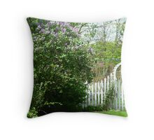 Country Gate Throw Pillow