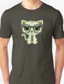 Kitten Nerd - Green T-Shirt