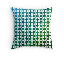 sdd Pattern 3K blue green tones Throw Pillow