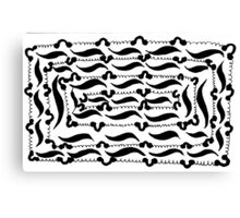 BW Lace Canvas Print