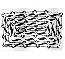 BW Lace Poster
