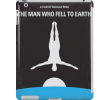 No208 My The Man Who Fell to Earth minimal movie poster iPad Case/Skin