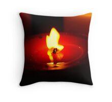 Burning flame Throw Pillow