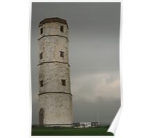 Flamborough old lighthouse Poster