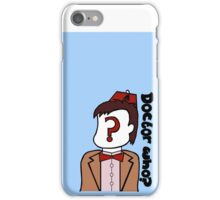 Doctor Who??? iPhone Case/Skin