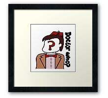 Doctor Who??? Framed Print