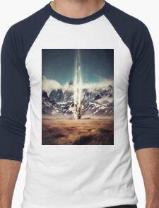 Struck By Gravity Men's Baseball ¾ T-Shirt