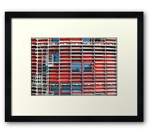 glass blinds Framed Print
