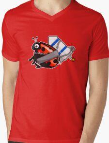 Rocket LadyBug Mens V-Neck T-Shirt