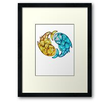 Whale Fish Framed Print