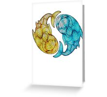 Whale Fish Greeting Card