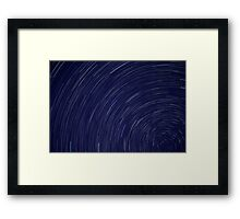 Star Trails  Framed Print