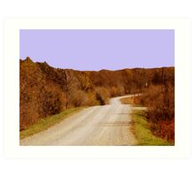 Autum Country Drive Art Print