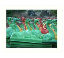 Dragon Boats Art Print