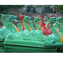 Dragon Boats Photographic Print