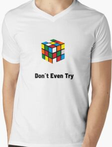 Don't Try the Rubix Cube! Mens V-Neck T-Shirt