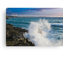 Tregardock Splash Canvas Print