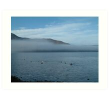 Clouds in the Lakes Art Print