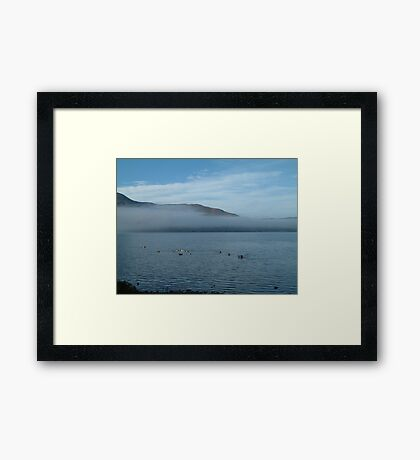 Clouds in the Lakes Framed Print