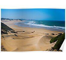 Endless,Cloudless Beach Poster