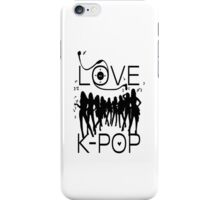 LOVE K-POP MUSIC iPhone Case/Skin