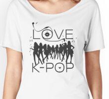 LOVE K-POP MUSIC Women's Relaxed Fit T-Shirt