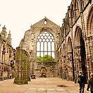 Holyrood abbey, Edinburgh. by Finbarr Reilly
