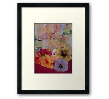 Hibiscus Card Framed Print