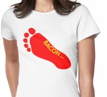 Bacon Foot Tattoo Womens Fitted T-Shirt