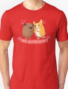 Paw-sitively Wuff-able Valentine's Day Card Unisex T-Shirt