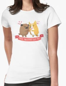 Paw-sitively Wuff-able Valentine's Day Card Womens Fitted T-Shirt