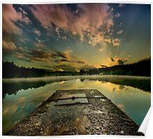 Sunrise over Jinolice Poster