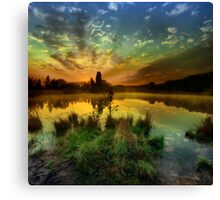 Sunrise over Jinolice Canvas Print
