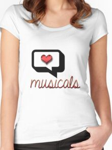 Love Musicals? Women's Fitted Scoop T-Shirt