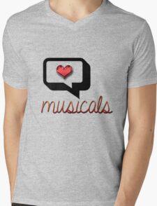 Love Musicals? Mens V-Neck T-Shirt