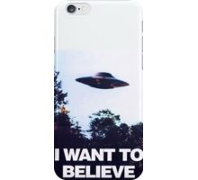 X FILES - I want to believe iPhone Case/Skin