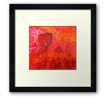 Single Tulip in Red Framed Print
