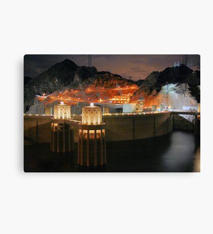dam at night Canvas Print