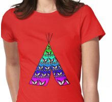 Rainbow Teepee Womens Fitted T-Shirt