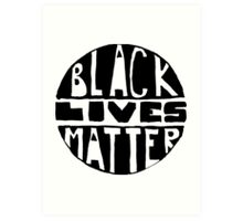 Black Lives Matter - Filled Art Print