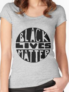Black Lives Matter - Filled Women's Fitted Scoop T-Shirt